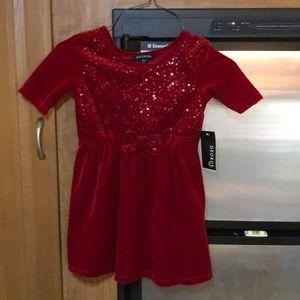 George Girls Size 4/5 Velour Dress